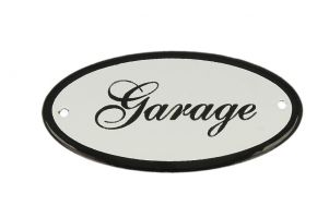"Emaillen Türschild ""Garage"" oval 100x50mm"
